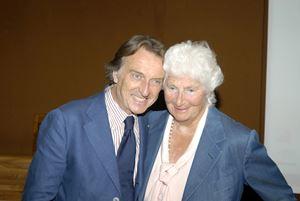 Il presidente di Fondazione Telethon, Luca di Montezemolo, con Susanna Agnelli