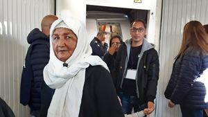 L'arrivo a Fiumicino dei profughi con il corridoio umanitario