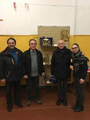Da sinistra, Gigi Saronni, 54 anni del Coe; Francesco Muraro (55) preside del Trotter; Giovanni Del Bene (73), responsabile di Scuole Aperte; Hillary Trogu (26) servizio civile al Coe