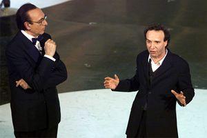 Roberto Benigni ospite nel 2002 (Ansa)