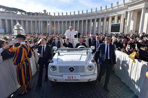 Piazza San Pietro, Città del Vaticano, 27 febbraio 2019: l'udienza generale del mercoledì. Foto Ansa/Osservatore Romano.