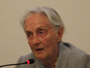 Vanda Di Marsciano (Perugia, 1927), vedova dello scrittore Eugenio Corti