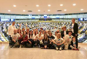"""Delegazione di """"Mamme no Pfas"""" al parlamento europeo"""