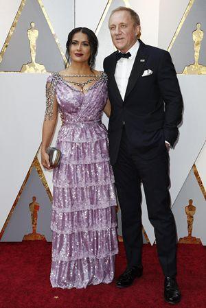 Francois-Henri Pinault /(56 anni) con la moglie, la celebre attrice e modella messicana Salma Hayek (52 anni).