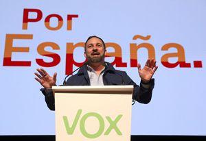 Santiago Abascal, leader di Vox (foto Reuters).