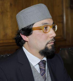 L'imam Yahyâ Sergio Yahe Pallavicini. Foto Ansa.