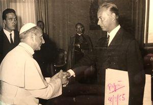 Paolo VI con Luciano Chailly