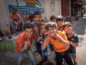 Alcuni ragazzi del centro di El Beddawi (foto di Andrea Tomasetto)