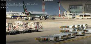 In questa foto Ansa, un fermo immagine del video pubblicato on line tempo fa dal New York Times a corredo di un reportage sulla vendita all'Arabia Saudita di armi prodotte in uno stabilimento della Sardegna. Armi che, riporta il giornale mostrando alcune immagini, verrebbero usate anche contro civili inermi nello Yemen.