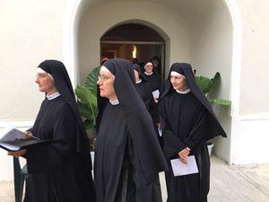 Le monache del convento dedicato a Sant'Agostino.
