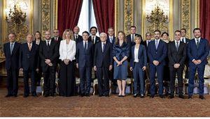 Il giuramento del primo governo Conte il 1° giugno 2018