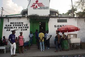 Il Centro di emergenza di Martissant di MSF, nella capitale Port-au-Prince.