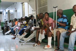 Un particolare del nuovo ospedale traumatologico nell'area di Tabarre, a Port-au-Prince, aperto da Medici senza Frontiere.