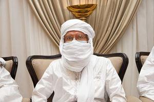 Padre Pier Luigi Maccalli appena dopo esser stato liberato in Mali. Foto Ansa.