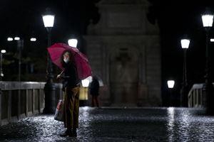 Una via di Roma il 14 ottobre scorso (Ansa)