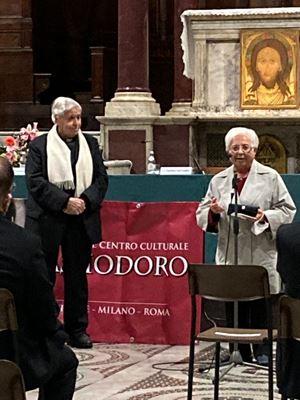 Don Antonio Tarzia con Maria Voce.