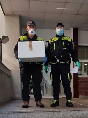 Volontari della Protezione Civile di Legnano.