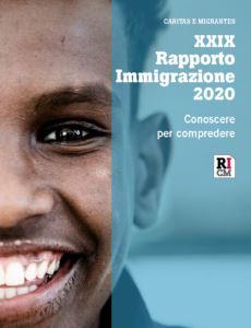 La copertina del XXIX Rapporto Immigrazione 2020.