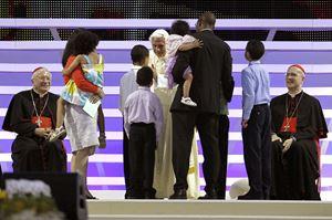 Milano, Italia, 3 giugno 2012, VII incontro mondiale delle famiglie con papa Benedetto XVI. Foto Reuters,.