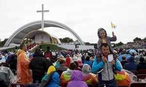 Dublino, Irlanda, 26 agosto 2018, IX incontro mondiale delle famiglie con papa Francesco. Foto Reuters.