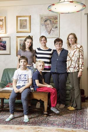 La famiglia di Francesco Frigerio, foto di Fabrizio Annibali