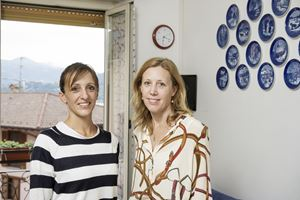 Le figlie di Francesco Frigerio, da sinistra Rosita e Erminia, foto di Fabrizio Annibali