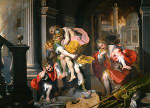 """Federico Barocci, """"La Fuga di Enea da troia"""", Galleria Borghese, Roma."""