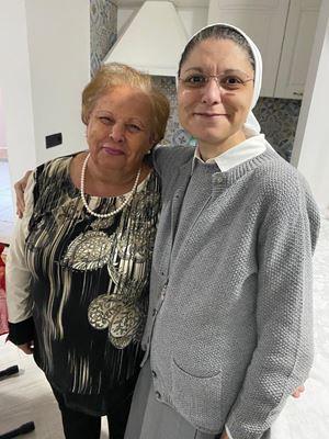 Con mamma Cristina