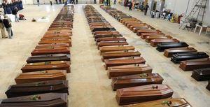 """Le vittime della strage di Lampedusa, avvenuta il 3 ottobre 2013. Allora si disse: """"Mai più""""."""