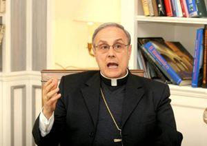 Monsignor Domenico Mogavero, vescovo di Mazara del Vallo.