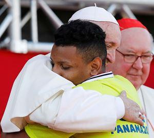 Papa Francesco alla Gmg di Panama il 28 gennaio 2019. Foto Reuters.