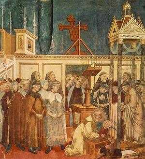 Giotto, il presepe di Greccio. Basilica superiore di San Francesco d'Assisi.