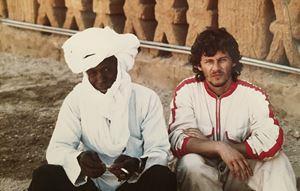 Giovanni Mereghetti durante il viaggio del 1986.
