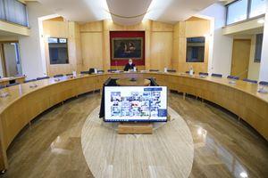 Un momento dei lavori del Consiglio straordinario permanente della Conferenza episcopale italiana (Cei). Tutte le foto del servizio sono dell'agenzia di stampa Ansa.