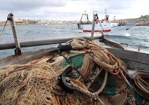 Pescatori lungo le coste pugliesi. Foto: Ansa. La fotografia di copertina è Cristian Gennari/Romano Siciliani.