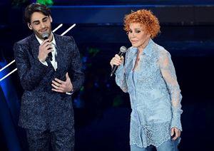 Alberto Urso e Ornella Vanoni. Foto Ansa.