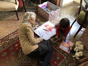 Con l'altra bisnipote Teresa Benedetta Giuntella