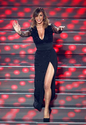Sabrina Salerno all'Ariston (foto Ansa)