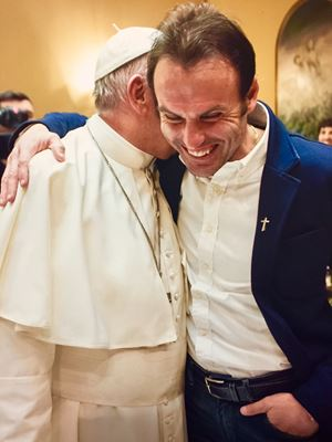 Don Marco Pozza e Papa Francesco (photo@vaticanmedia)