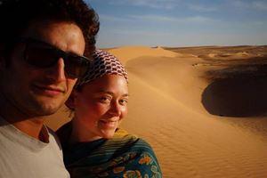 Luca Tacchetto e Edith Blais durante il viaggio in Africa occidentale nel corso quale sono stati rapiti.