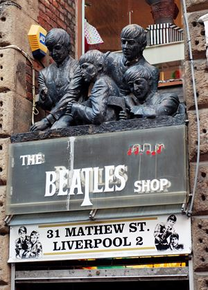 Il Beatles shop a Liverpool