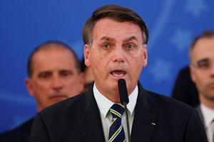 Il presidente brasiliano Jair Bolsonaro (foto Reuters).