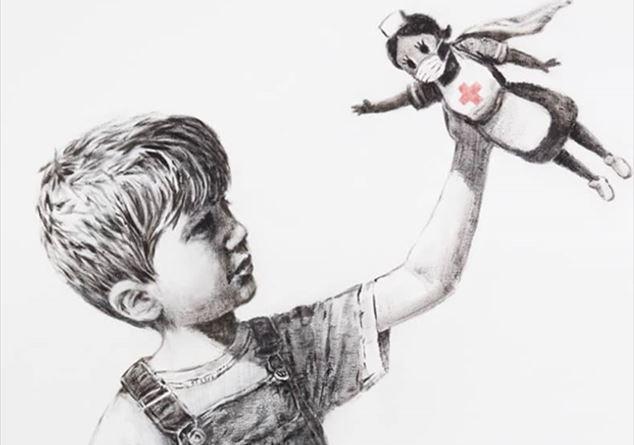 Banksy, nuova opera all'ospedale di Southampton: l'omaggio a medici e infermieri