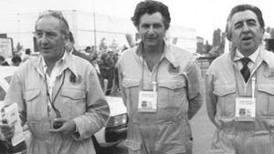 Claudio Ferretti (al centro) con Alfredo Provenzali ed Enrico Ameri.
