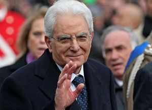 Il Presidente Mattarella.