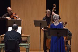 Sara Mingardo durante un concerto a Lugo diretto da Rinaldo Alessandrini