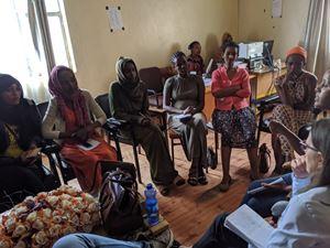 Incontro in Etiopia di un'associazione di lavoratrici domestiche con la partecipazione di Cvm.