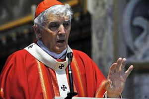 Il cardinale Edoardo Menichelli, 80 anni, arcivescovo emerito di Ancona-Osimo. Foto Ansa.