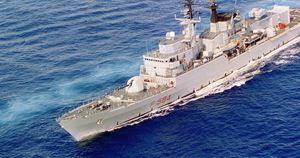 Una fregata militare. Nel contratto con l'Egitto è prevista la vendita di due navi di questo tipo.