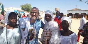 Pardre Filippo Ivardi in Ciad, dov'era missionario fino a poco più di un anno fa.